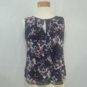 Ann Taylor Factory sleeveless floral top size S